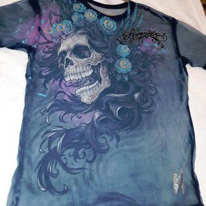 Remetee SCALES Womens Top T-Shirt XL NWT NEW Skull